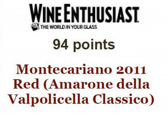 AMARONE DOCG 2011 - 94 PUNTI SU WINE ENTHUSIAST